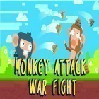 Con gioco Dominoes Deluxe per Android scarica gratuito Monkey attack: War fight sul telefono o tablet.
