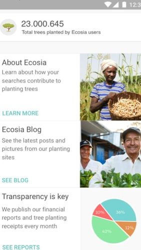 Ecosia - Trees & privacy