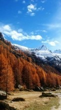 Scaricare immagine 1080x1920 Landscape, Trees, Sky, Roads, Mountains, Autumn sul telefono gratis.