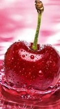 Scaricare immagine Food, Fruits, Drops, Cherry, Water sul telefono gratis.