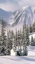 Scaricare immagine Mountains,Landscape,Nature,Snow,Winter sul telefono gratis.