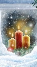 Scaricare immagine 480x800 Holidays, New Year, Objects, Christmas, Xmas, Candles sul telefono gratis.