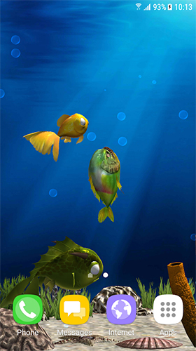 Aquarium fish 3D by BlackBird Wallpapers - scaricare Acquari sfondi animati per Android di cellulare gratuitamente.