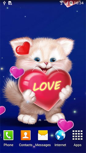 Scarica gratis sfondi animati Cute cat by Live Wallpapers 3D per telefoni di Android e tablet.