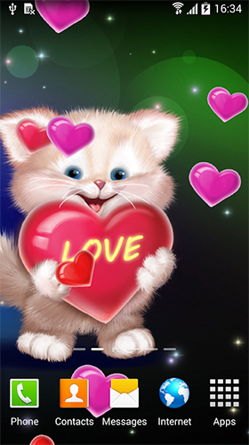 Scaricare Cute cat by Live Wallpapers 3D — sfondi animati gratuiti per l'Android su un Desktop.