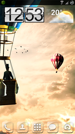 Scarica gratis sfondi animati Hot air balloon 3D per telefoni di Android e tablet.