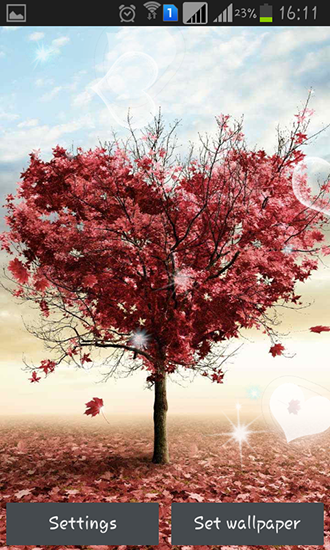 Love tree by Pro live wallpapers - scaricare sfondi animati per Android 4.2.2 di cellulare gratuitamente.