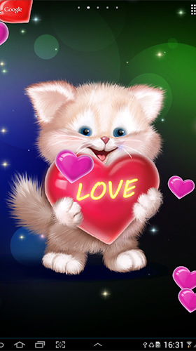 Screenshot dello Schermo Cute cat by Live Wallpapers 3D sul cellulare e tablet.
