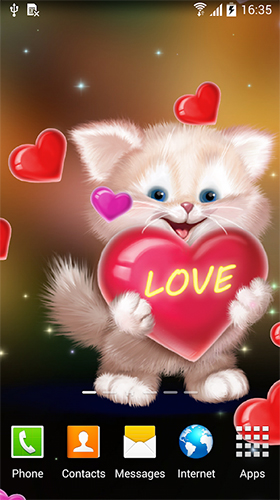 Cute cat by Live Wallpapers 3D