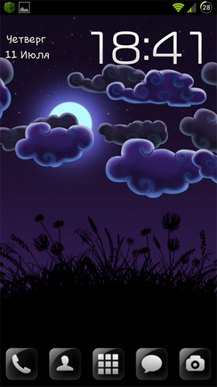 Screenshot dello Schermo Night nature HD sul cellulare e tablet.