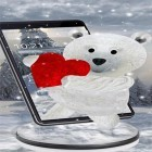 Oltre sfondi animati su Android Real space 3D, scarica apk gratis Teddy bear: Love 3D.