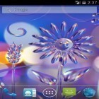 Oltre sfondi animati su Android Real space 3D, scarica apk gratis Glass flowers.