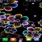 Oltre sfondi animati su Android Hot air balloon 3D, scarica apk gratis Neon flowers.