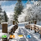 Oltre sfondi animati su Android Light drops pro, scarica apk gratis Winter landscapes.